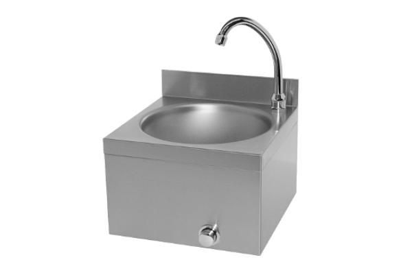 Washbasin with knee operated water